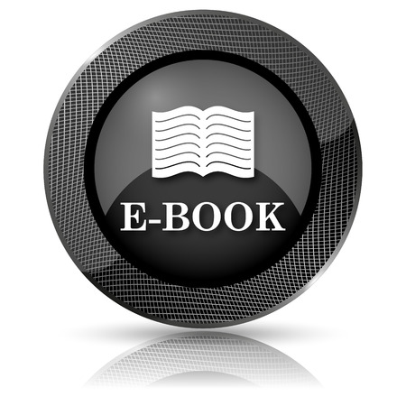 audiobook: Shiny glossy icon with white design on black background