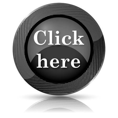 Shiny glossy icon with white design on black background Stock Photo - 23804619