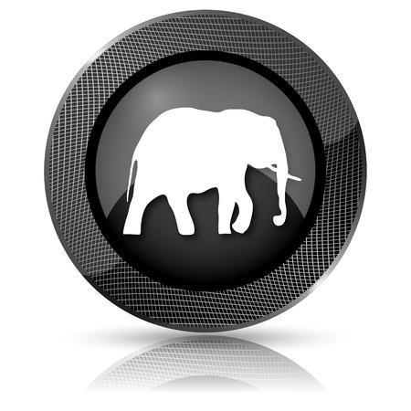endanger: Shiny glossy icon with white design on black background