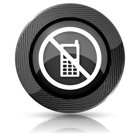 refrain: Shiny glossy icon with white design on black background