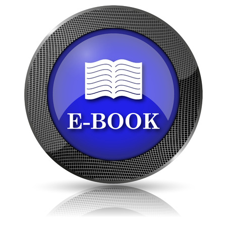 audiobook: Shiny glossy icon with white design on blue background