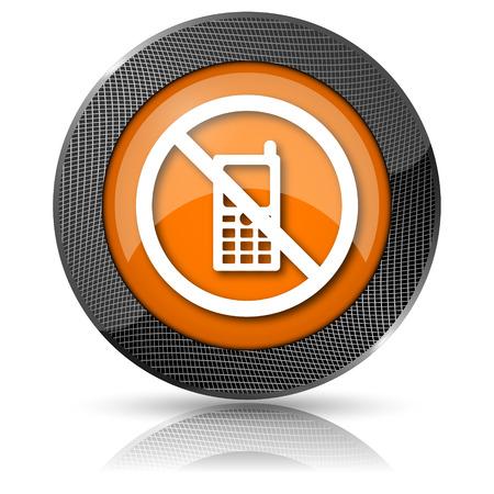 compulsory: Shiny glossy icon with white design on orange background