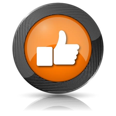 Shiny glossy icon with white design on orange background Stock Photo - 24086339