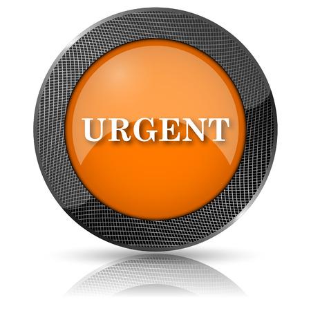 promptness: Shiny glossy icon with white design on orange background