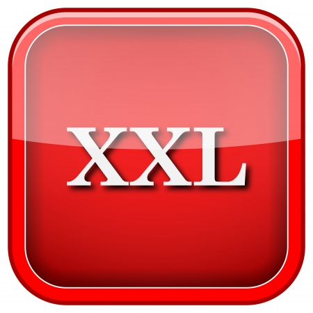 xxl icon: Square shiny icon with white design on green background