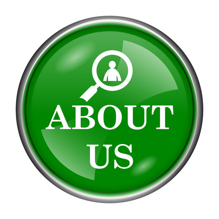 service sphere support web: Round glossy icon with white design on green background