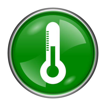 celsius: Round glossy icon with white design on green background
