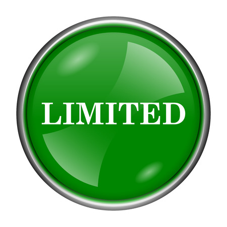 auction off: Round glossy icon with white design on green background