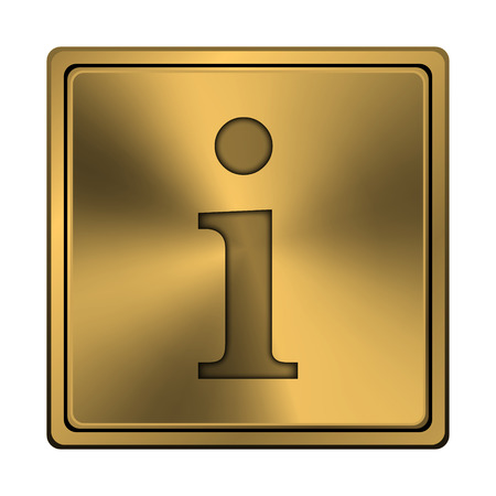 service sphere support web: Square metallic icon with carved design on copper background Stock Photo