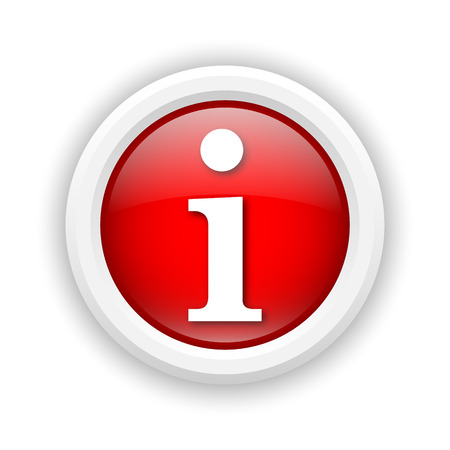 service sphere support web: Round plastic icon with white design on red background