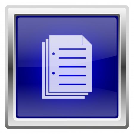 blue metallic background: Metallic shiny icon with white design on blue background