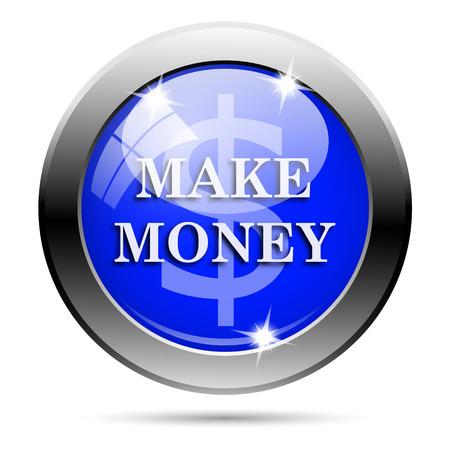 blue metallic background: Metallic round glossy icon with white design on blue background Stock Photo