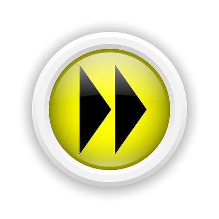 Round plastic icon with black design on yellow background photo