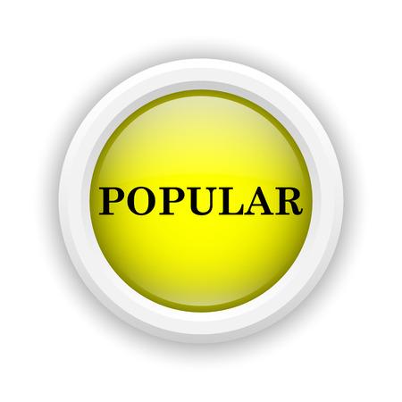 work popular: Round plastic icon with black design on yellow background Stock Photo