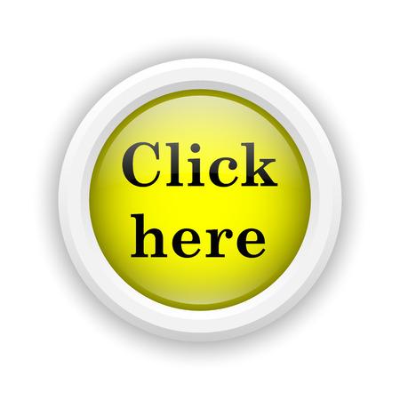 Round plastic icon with black design on yellow background Stock Photo - 25002705