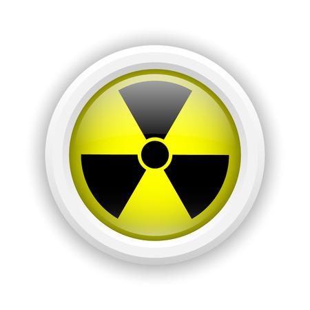Round plastic icon with black design on yellow background Stock Photo - 25002927