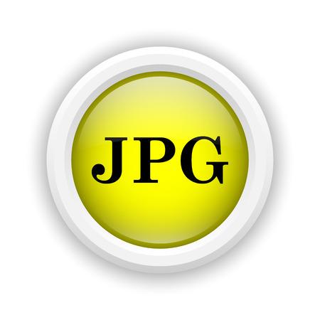 file type: Round plastic icon with black design on yellow background Stock Photo