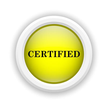 ratificaci�n: Icono redondo de pl�stico con un dise�o negro sobre fondo amarillo