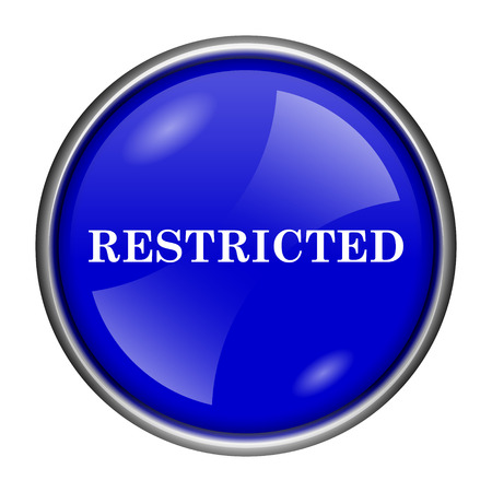 abstain: Round glossy icon with white design on blue background Stock Photo