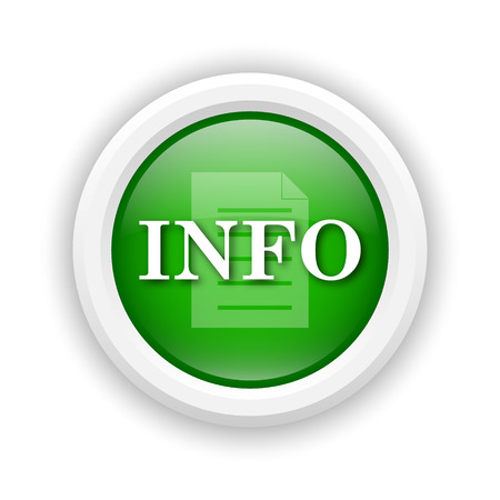 service sphere support web: Round plastic icon with white design on green background