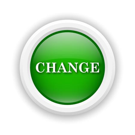 progression: Round plastic icon with white design on green background