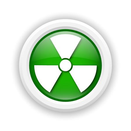 Round plastic icon with white design on green background Stock Photo - 25285169