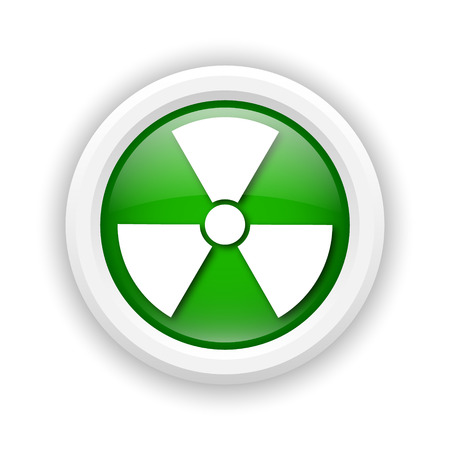 radium: Round plastic icon with white design on green background