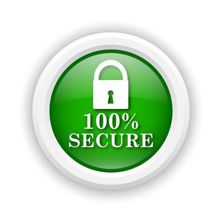 trustworthy: Round plastic icon with white design on green background