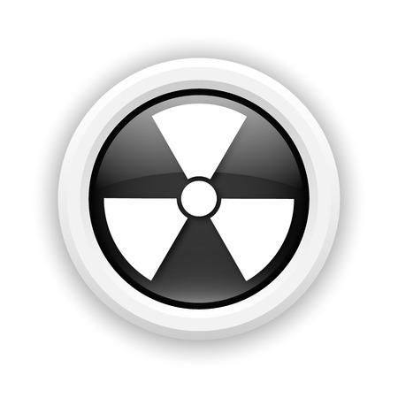 Round plastic icon with white design on black background Stock Photo - 25417501