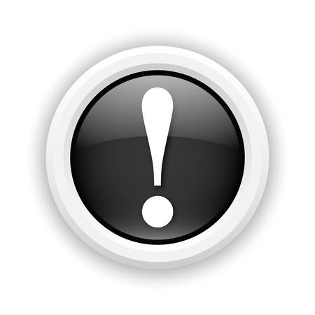 Round plastic icon with white design on black background Stock Photo - 25417689