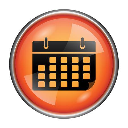time bound: Round glossy icon with black design on orange background Stock Photo