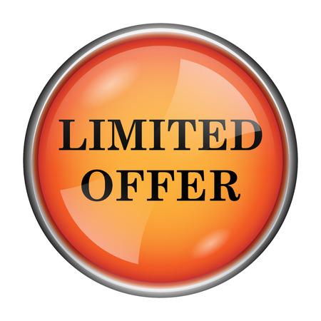 peel off: Round glossy icon with black design on orange background Stock Photo