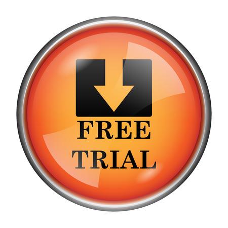 gratuity: Round glossy icon with black design on orange background Stock Photo