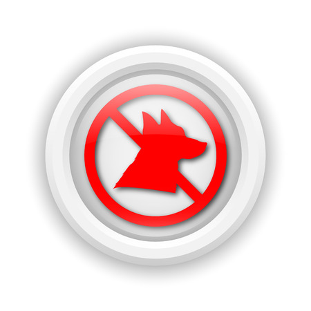 illegal zone: Round plastic icon with red design on white background