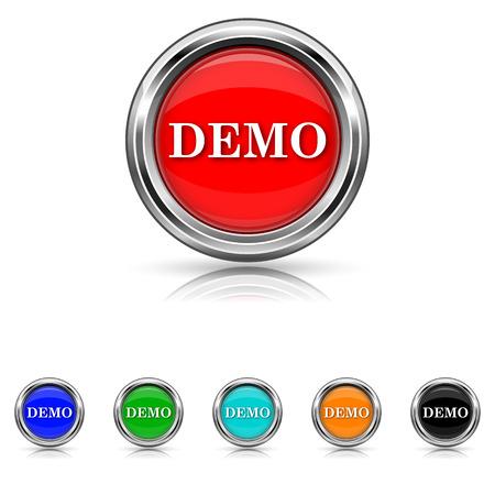 Shiny glossy icons - six colours set Stock Vector - 25863212