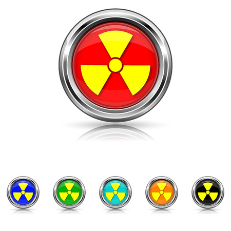 Shiny glossy icons - six colours set Stock Vector - 25863696