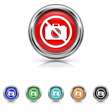 Shiny glossy icons - six colours set Stock Vector - 25863870