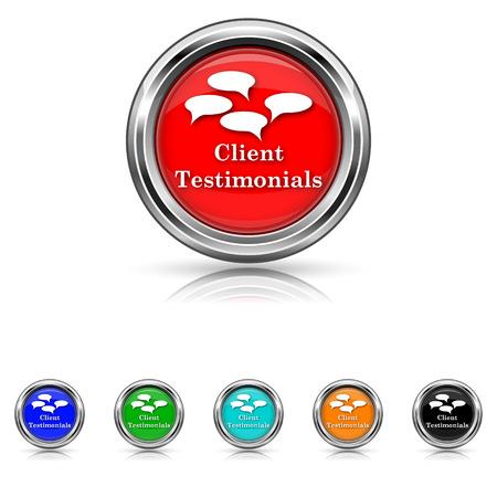 authenticate: Shiny glossy icons - six colours set Illustration