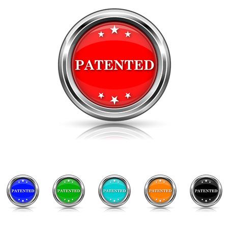 plagiarism: Shiny glossy icons - six colours set Illustration