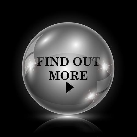 icon glossy: Shiny glossy icon - palla di vetro su sfondo nero