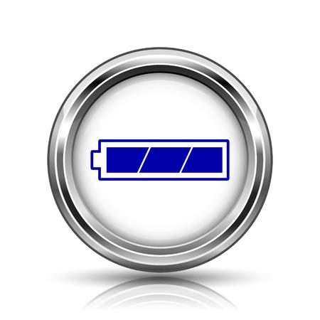 Shiny glossy icon - internet metallic button photo