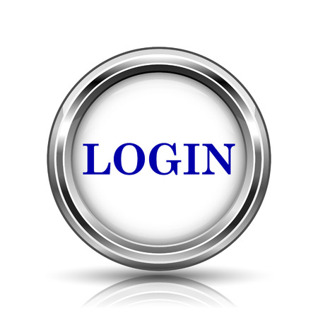 Shiny glossy icon - internet metallic button photo
