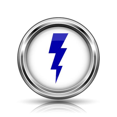 Shiny glossy icon - internet metallic button Stock Photo - 26645684
