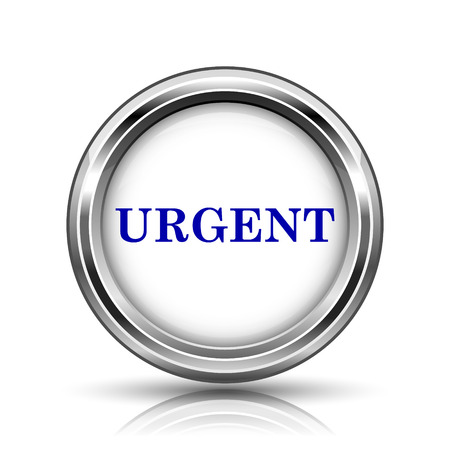 promptness: Shiny glossy icon - internet metallic button Stock Photo