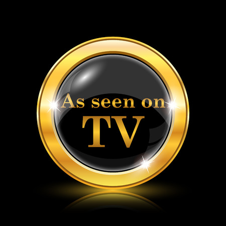widescreen: Golden shiny icon on black background - internet button