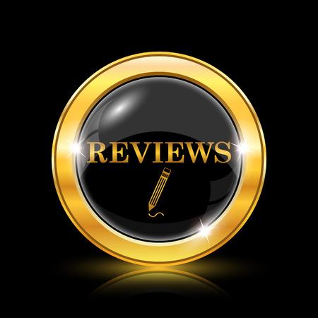 worthy: Golden shiny icon on black background - internet button
