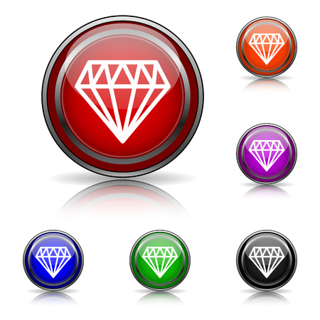 unbreakable: Shiny glossy colored icons - six colors vector set - eps10