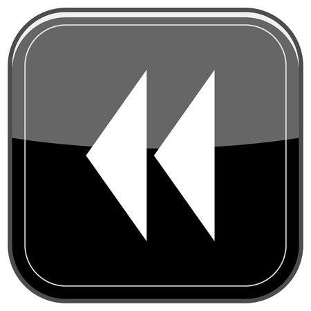 Glossy shiny icon - black internet button photo