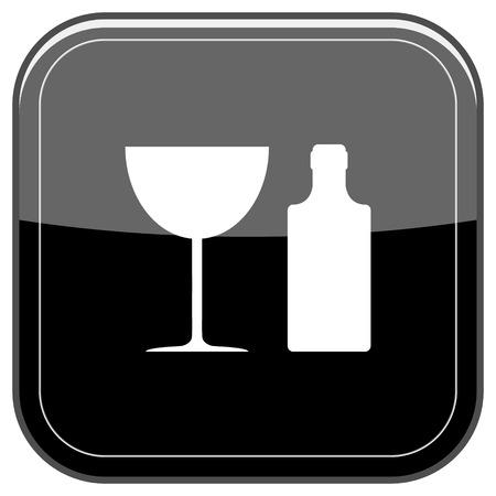 vermouth: Glossy shiny icon - black internet button