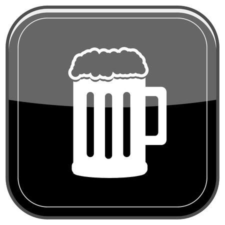 Glossy shiny icon - black internet button